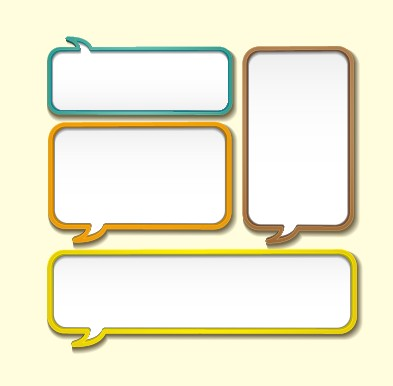 creative speech bubble for your text design vector 02 free – over, Powerpoint templates