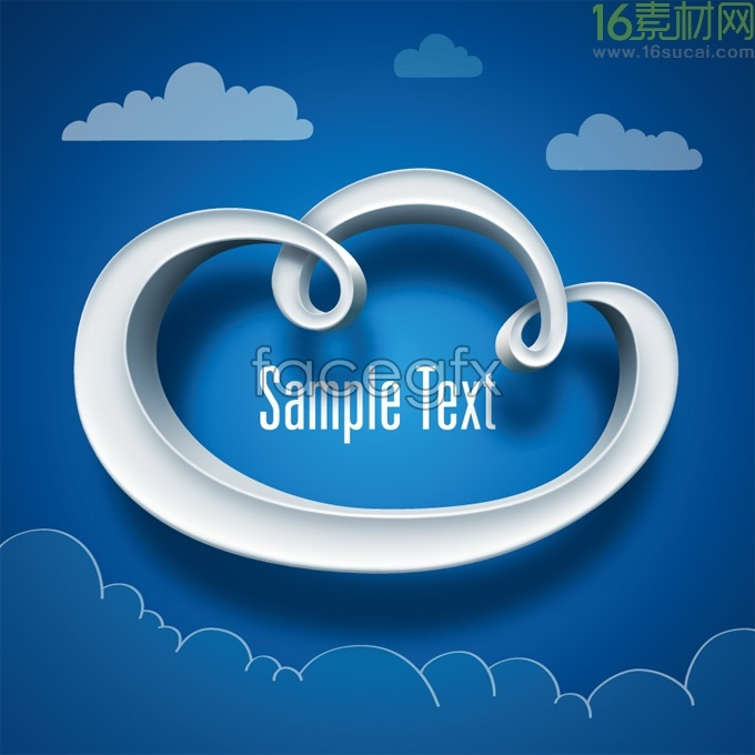 Creative stereo clouds background vector