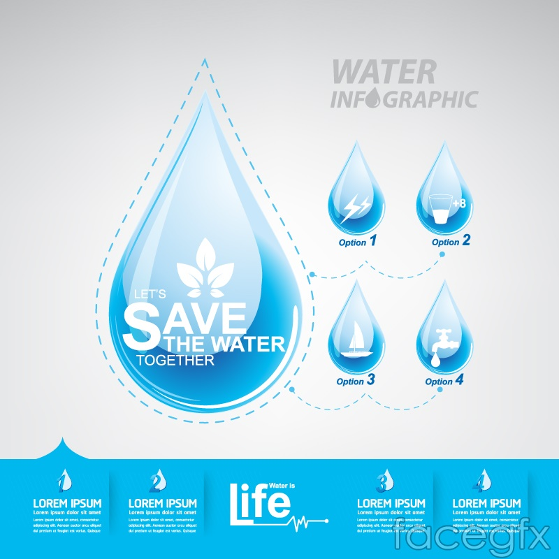 Creative water conservation information vector over millions creative water conservation information vector free download creative water toneelgroepblik Image collections