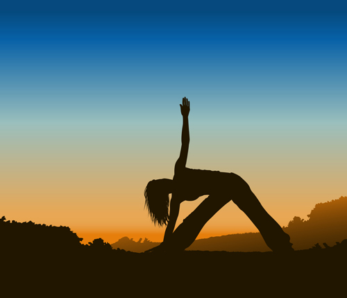 Creative yoga and sunset vector 01 free over millions vectors creative yoga and sunset vector 01 free toneelgroepblik