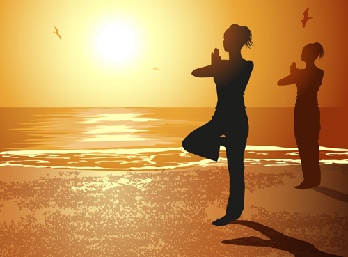 Creative yoga and sunset vector 04 free over millions vectors creative yoga and sunset vector 04 free toneelgroepblik Image collections
