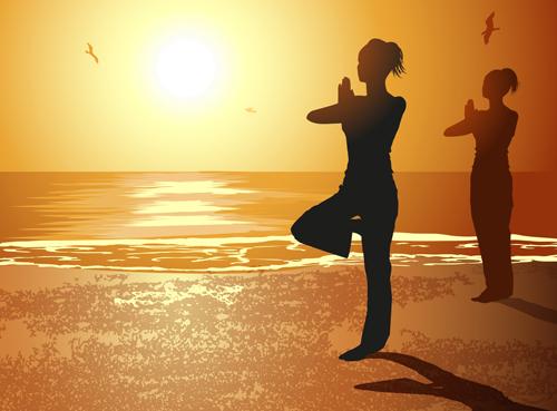 Creative yoga and sunset vector 04 free over millions vectors creative yoga and sunset vector 04 free toneelgroepblik Images