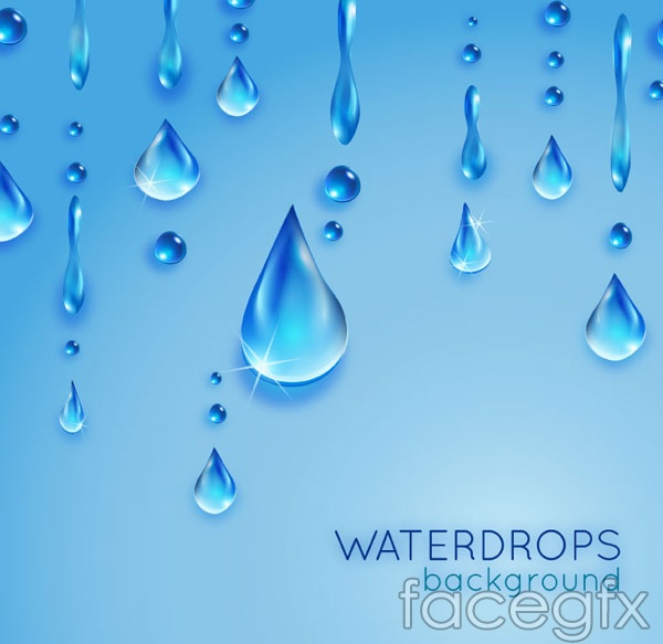 Crystal clear water drops background vector – Over millions vectors