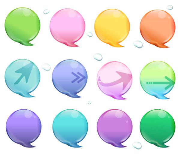 Crystal color bubble icon