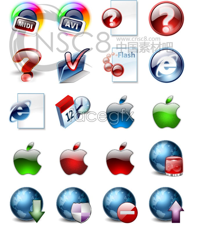 Crystal computer icons