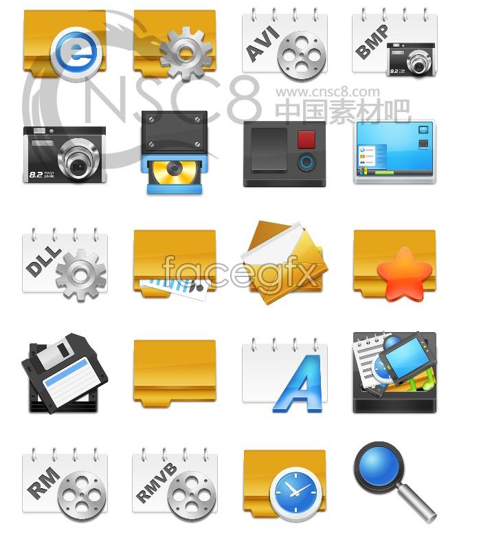 Crystal stereo desktop icons
