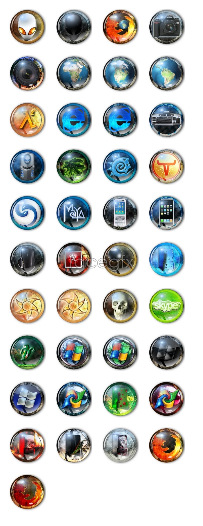 Crystal Vista system icons