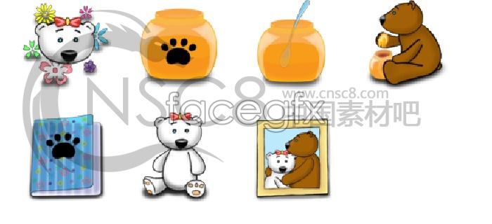 Cute bear series icons