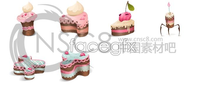 Cute cake icons