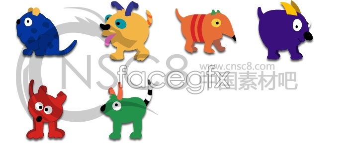 Cute cartoon animal icons