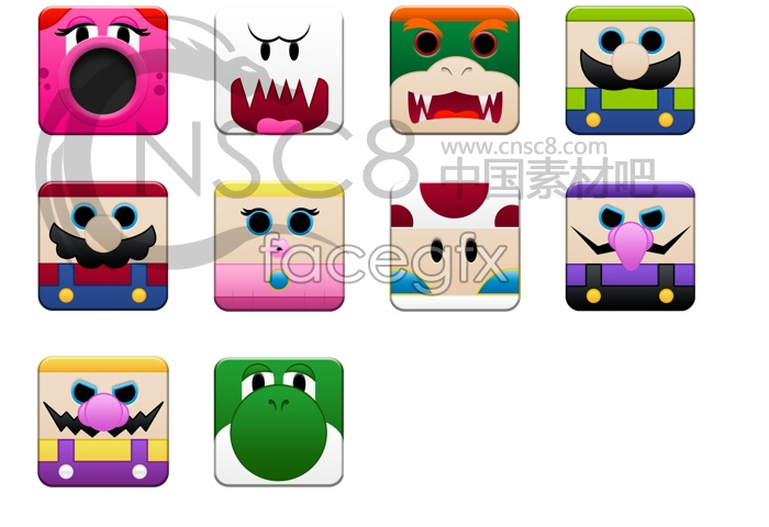 Cute cartoon avatar desktop icons