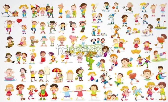 cute cartoon children baby vector free download
