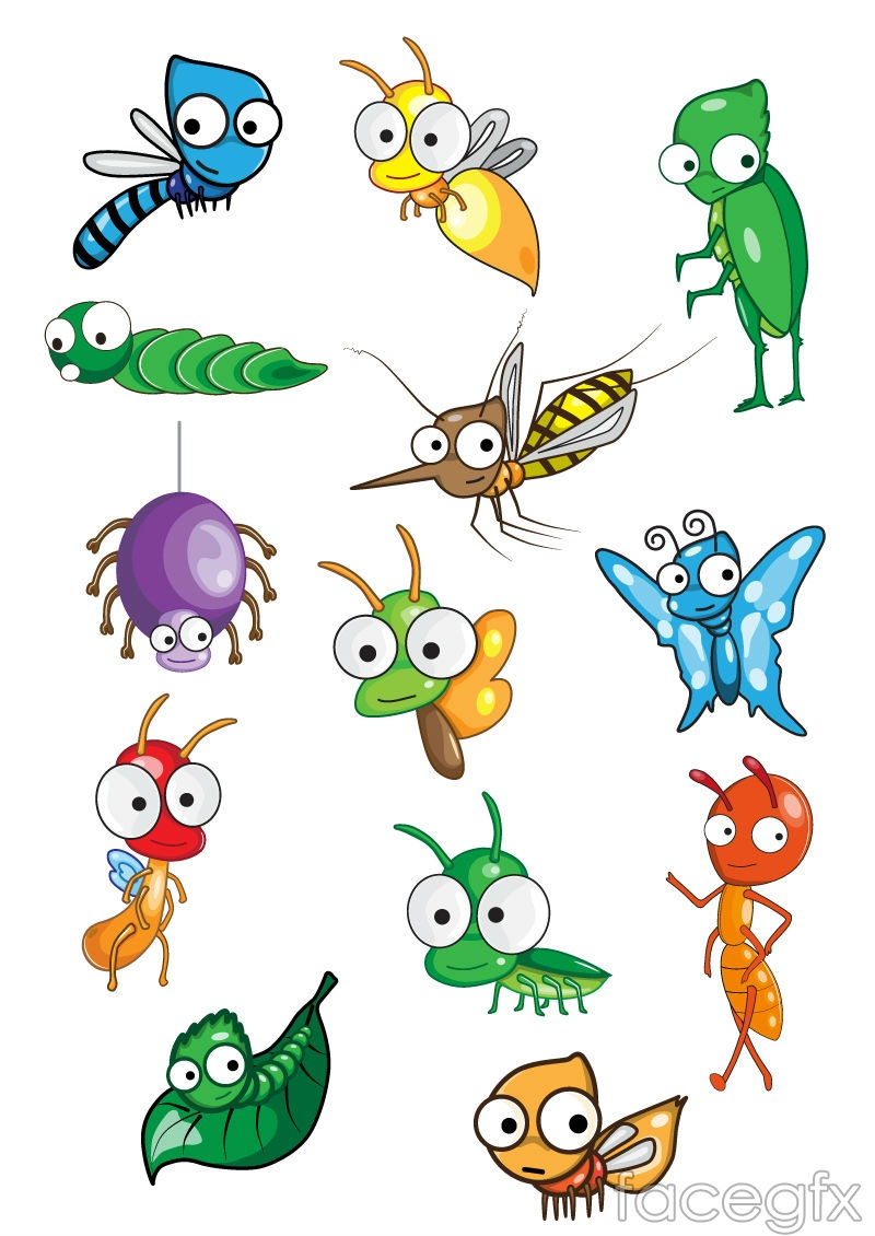 Cute cartoon insect vector over millions vectors stock photos cute cartoon insect vector free download toneelgroepblik