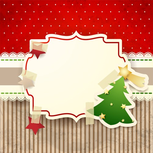e9fe9f6cba8 Cute christmas cards with frame vector set 01 – Over millions ...