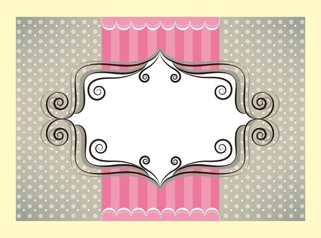 Cute Greeting Card vector free