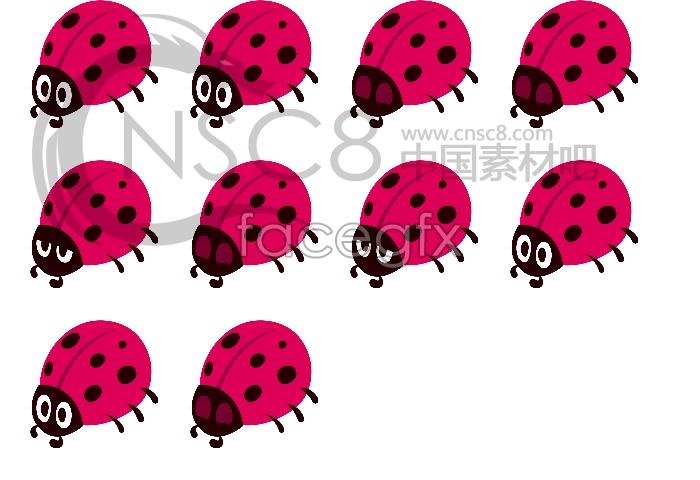 Cute Ladybug computer icons