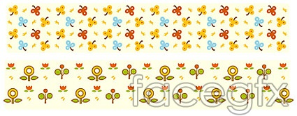 Simple And Elegant Flower Pattern Background Vector Material
