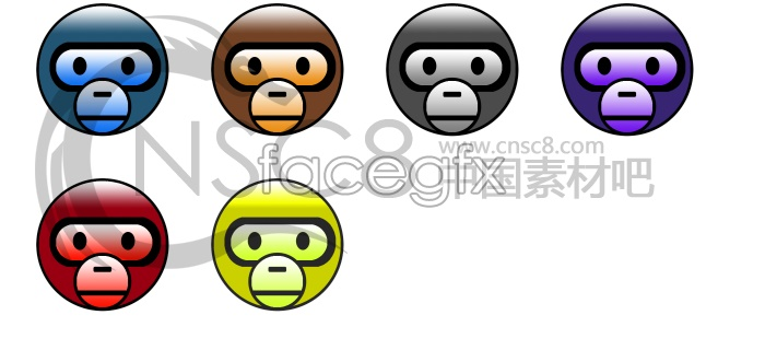 Cute monkey face icon