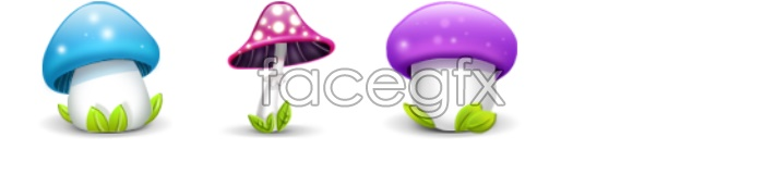 Cute mushrooms computer icons
