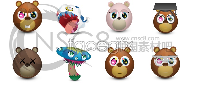 Cute Teddy bear desktop icons