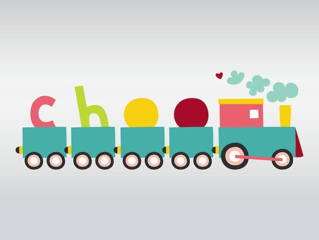 Cute Vector Train free