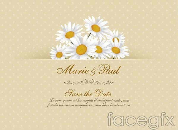 Daisy Wedding Invitations Vector Over Millions Vectors Stock