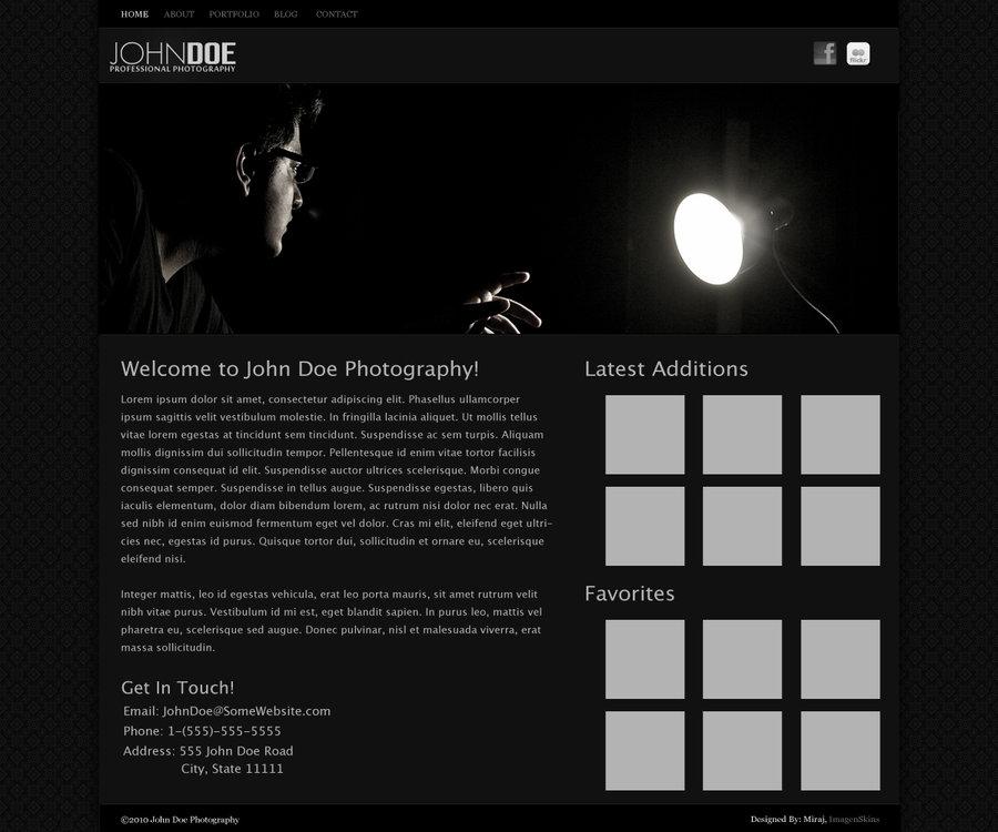 Dark Photography Web Template