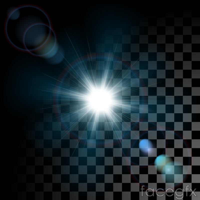 Free download Dazzling light effect black and white background vector ...