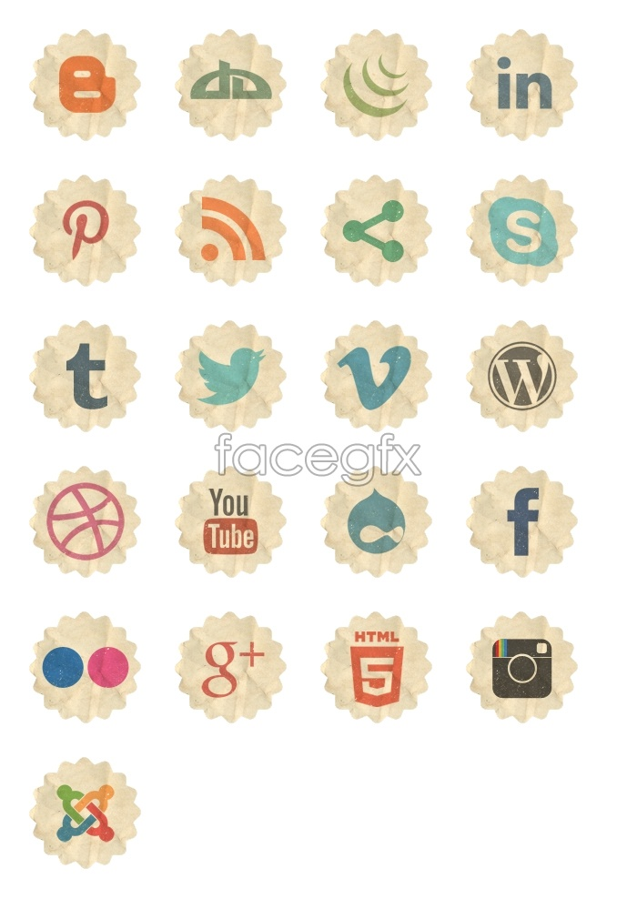 Decal social media icons