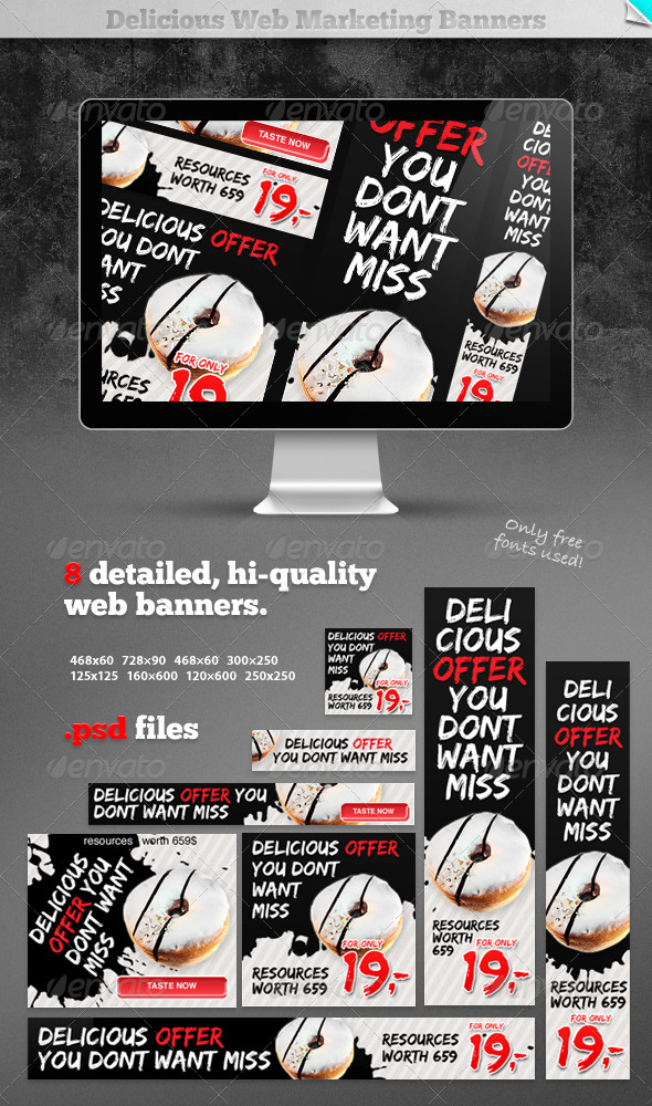 Delicious Web Marketing Banners