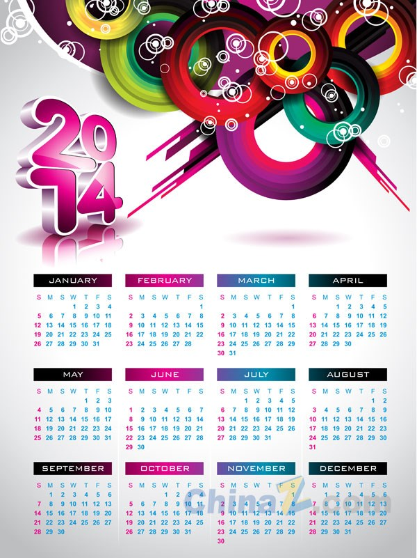 Calender Design Template  Calendar Sample Design
