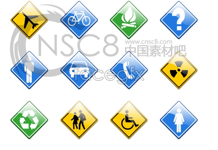 Determine the traffic sign icons