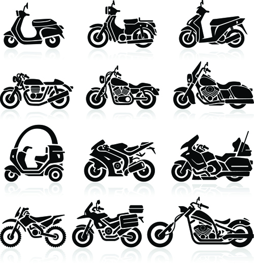 Different motorcycle vector silhouettes image free over millions different motorcycle vector silhouettes image free toneelgroepblik Images