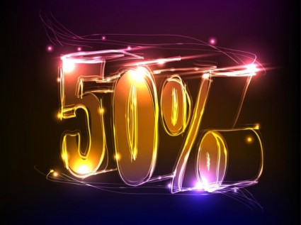 discount gorgeous neon background 01 vector