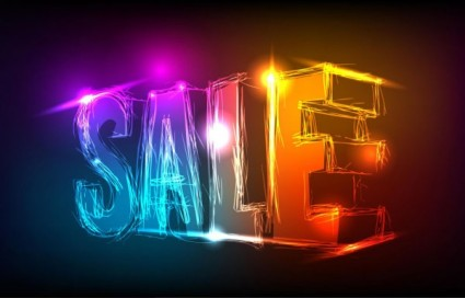discount gorgeous neon background 03 vector