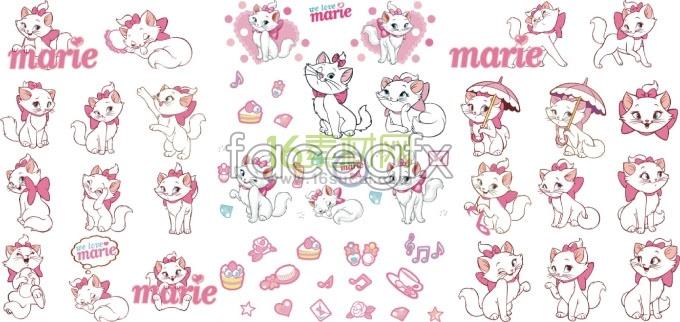 Disney marie cat cartoon character vector – Over millions