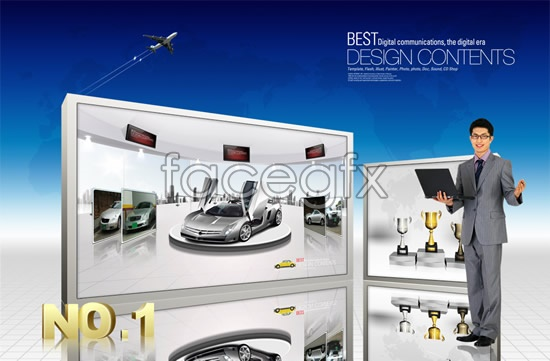 Display business commercial PSD