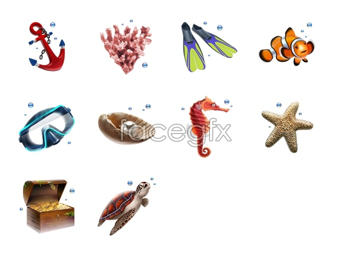 Diving activity icons