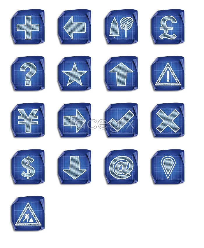 Download desktop icon grid symbols