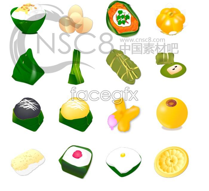 Dragon Boat Festival rice dumpling icons