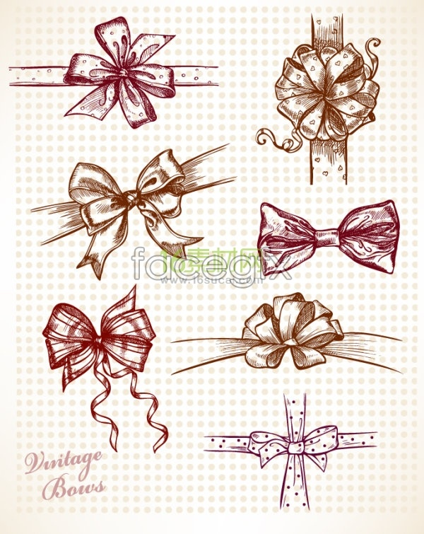Drawing a bow illustration
