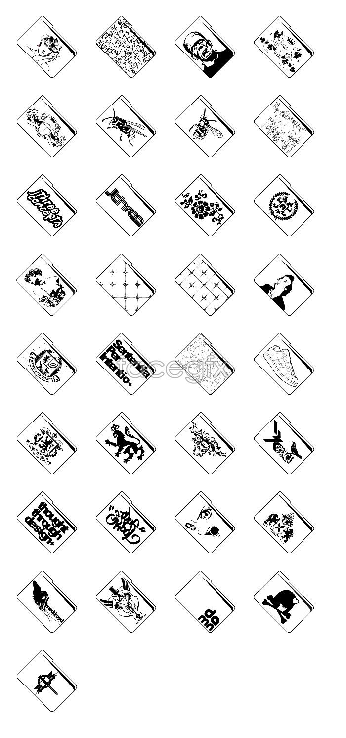 Drawing folder icons