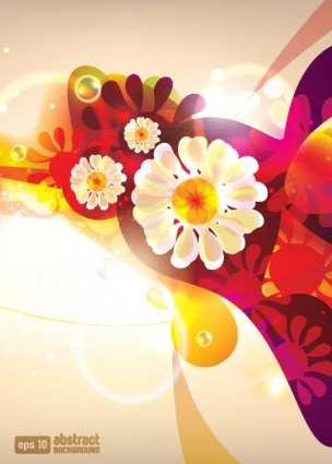 dream of flowers vector background 2