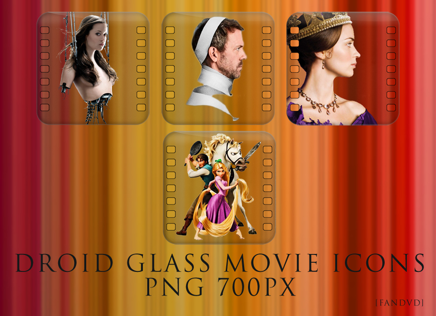 Droid Glass Movie Icons