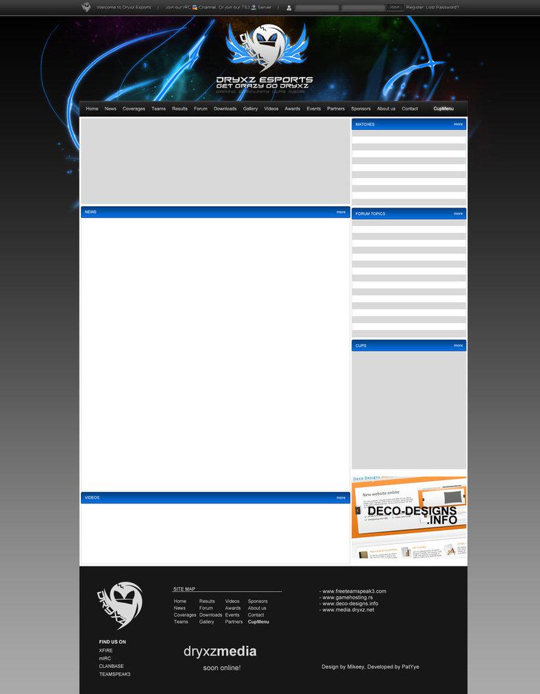 Dryxz Esports Webdesign