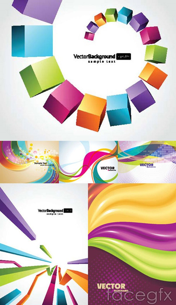 Dynamic color background vector