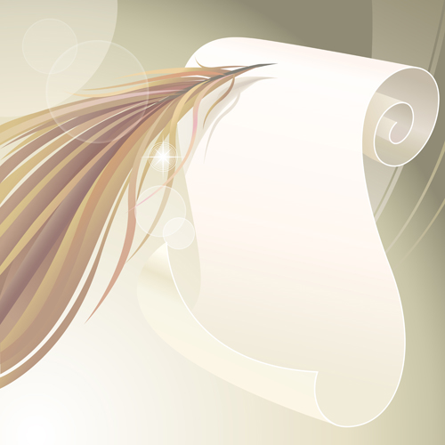 Dynamic feather with background vector set 05 free