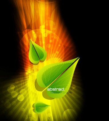 dynamic gorgeous leaves background 03 vector