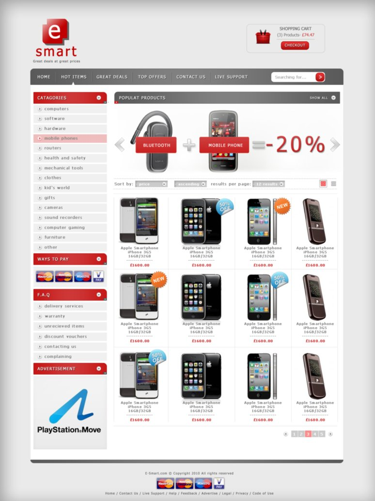 E-SHOP for sale psd+