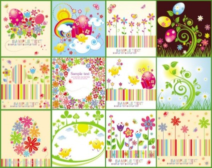 easter cartoon elements 04 vector